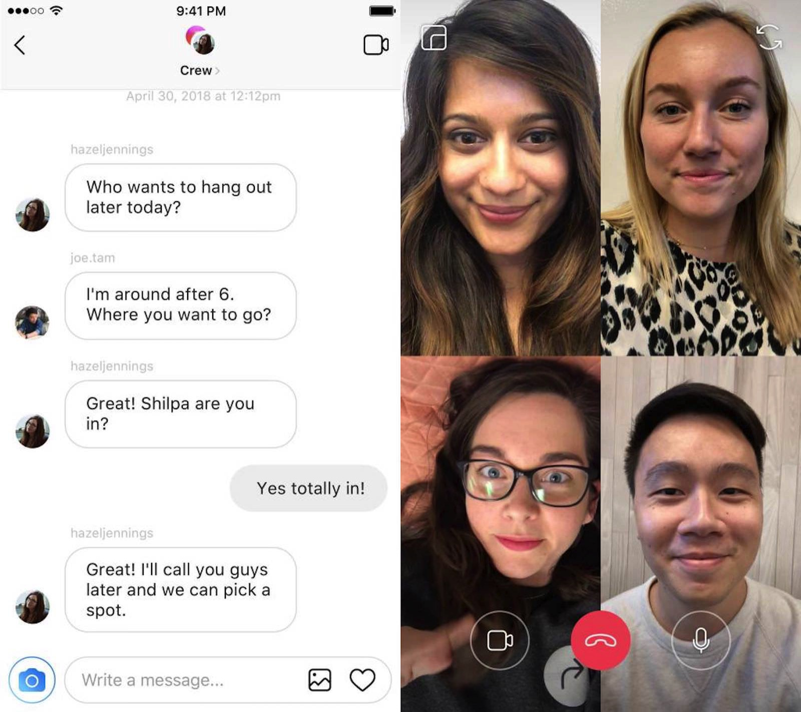 Video Chat on Instagram