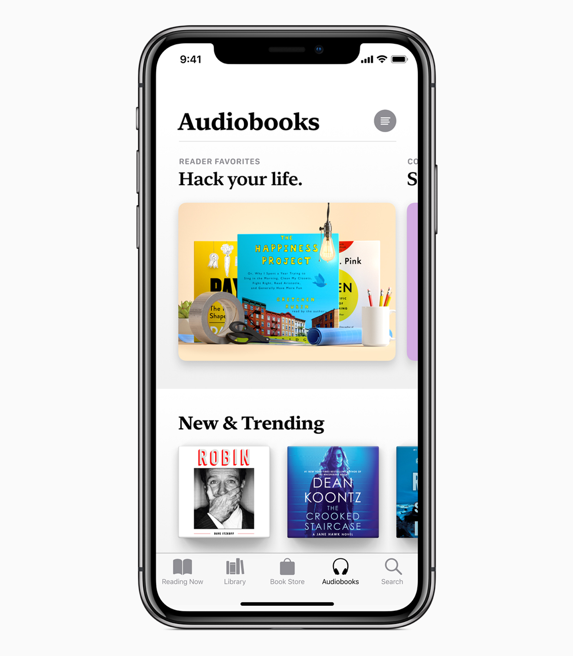 Apple Books Audiobook tab