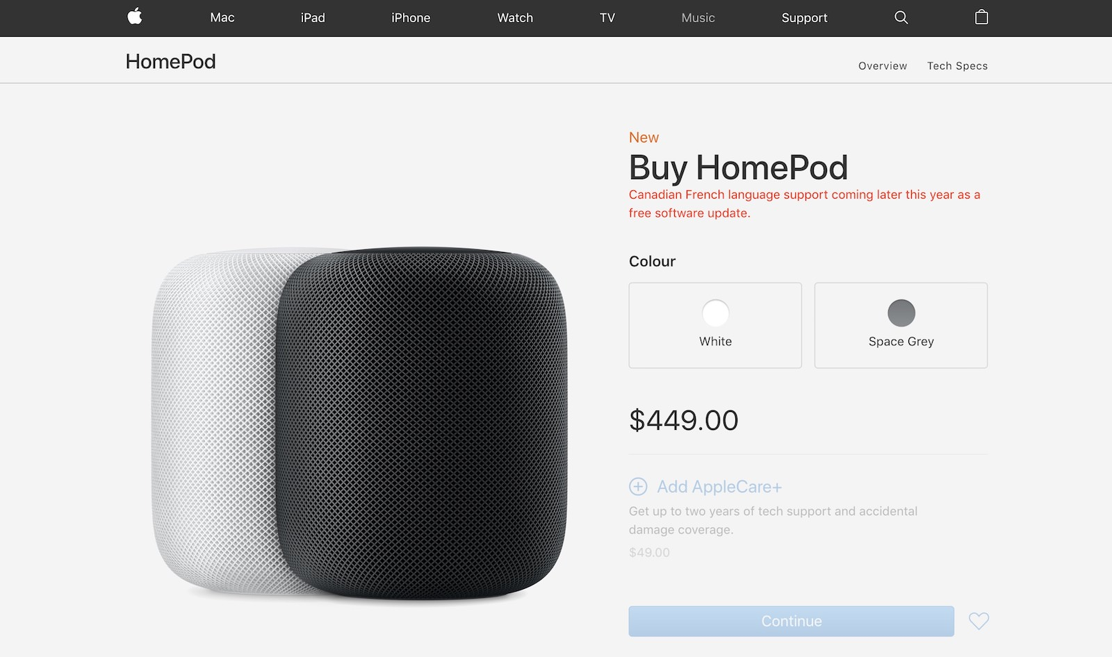 HomePod goes on sale in 3 new countries