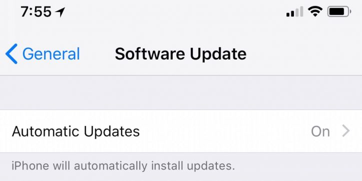 iOS12:自動アップデート機能