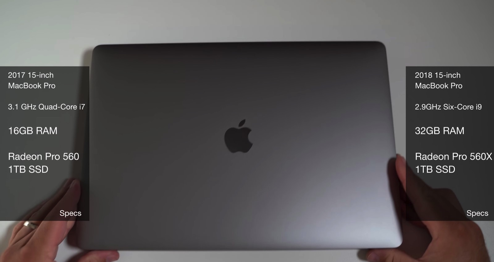 MacBook Pro(2018) 2017 final cut comparison