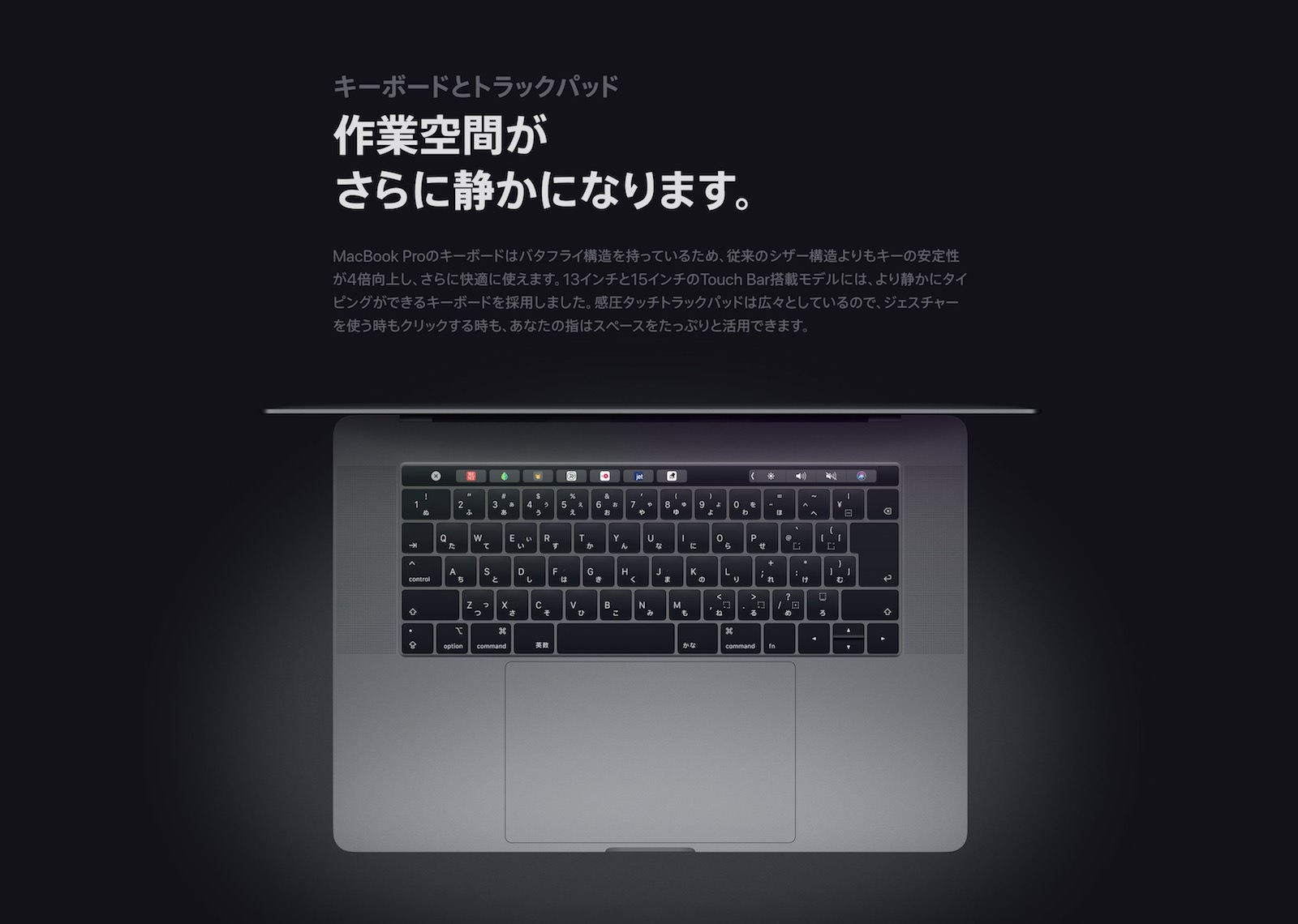 MacBook Pro 2018 Keyboard Official Page