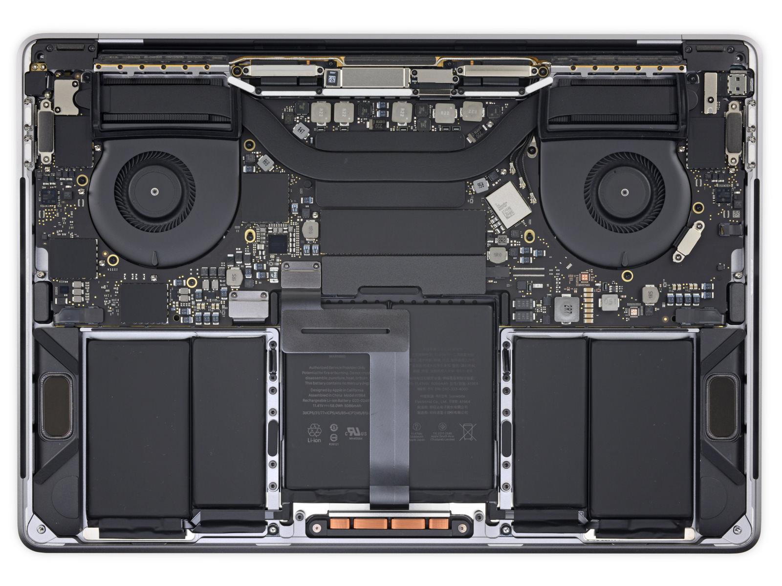 MacBook Pro(2018) iFixit inside