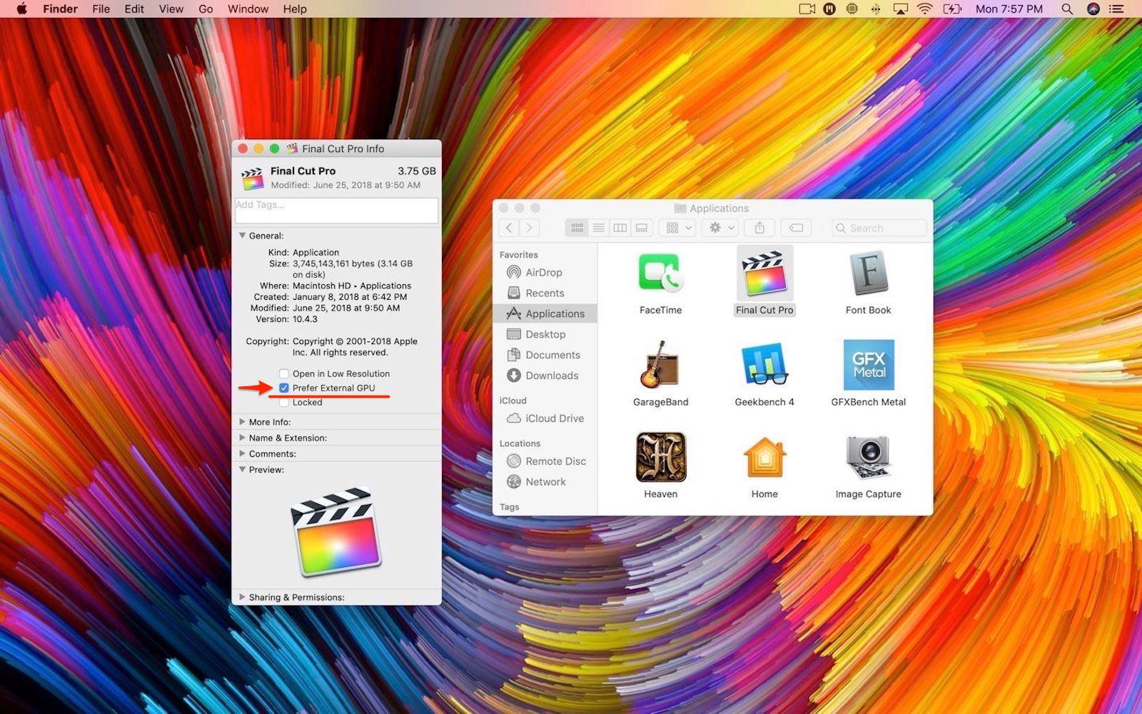 Prefer External GPU macOS Mojave 2