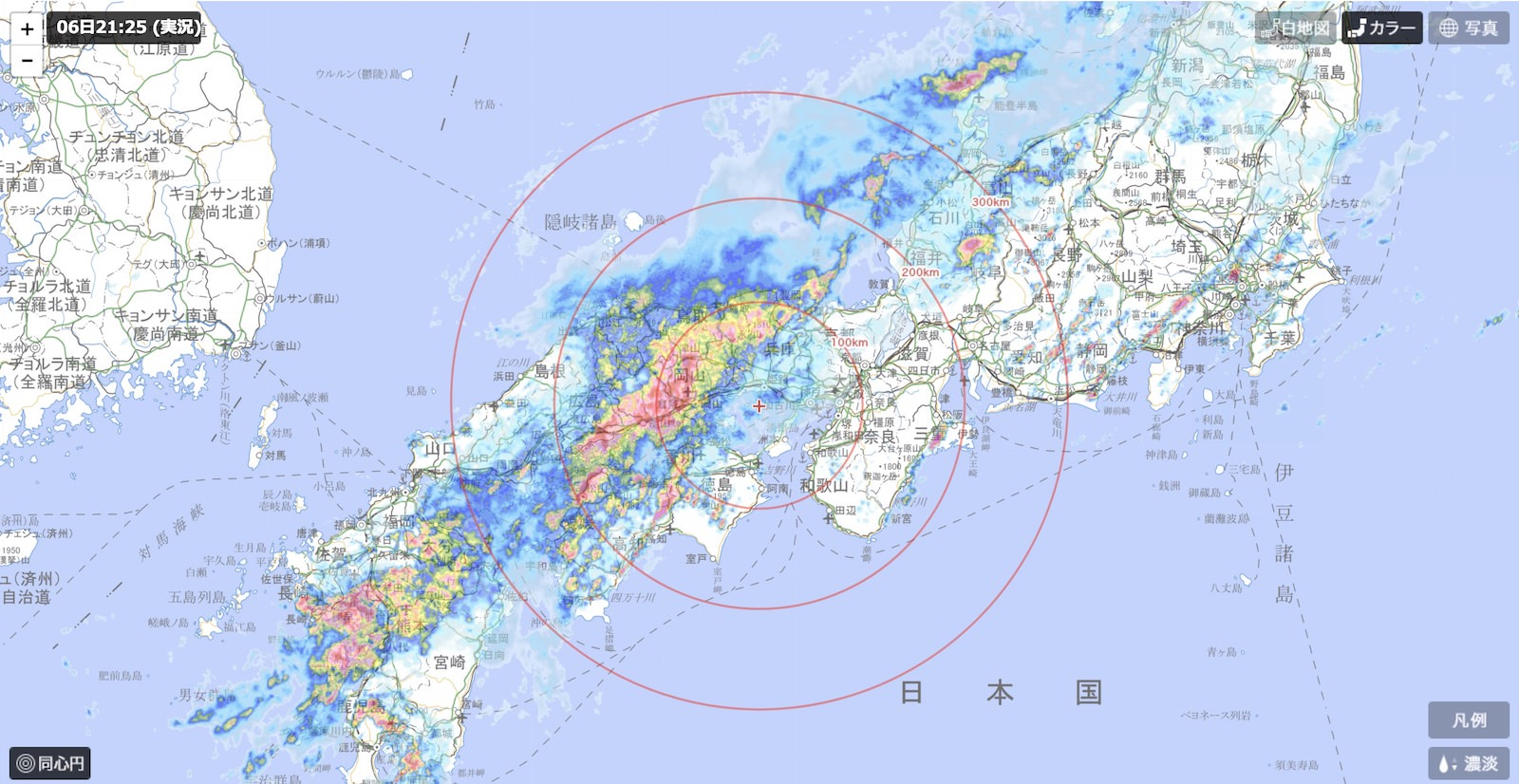Tenki Japan Weather Map