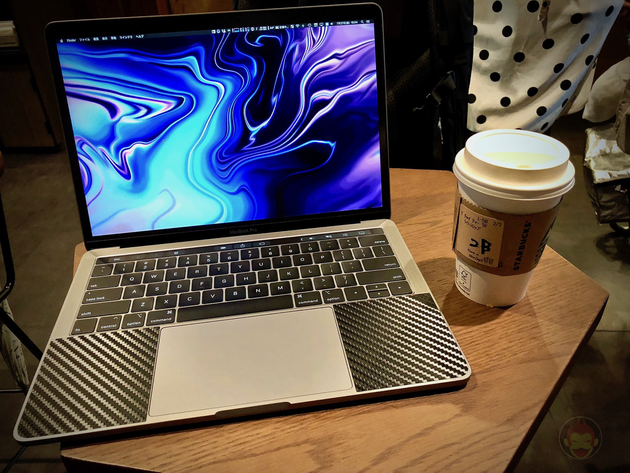 Using MacBook Pro 2018 at starbucks 02
