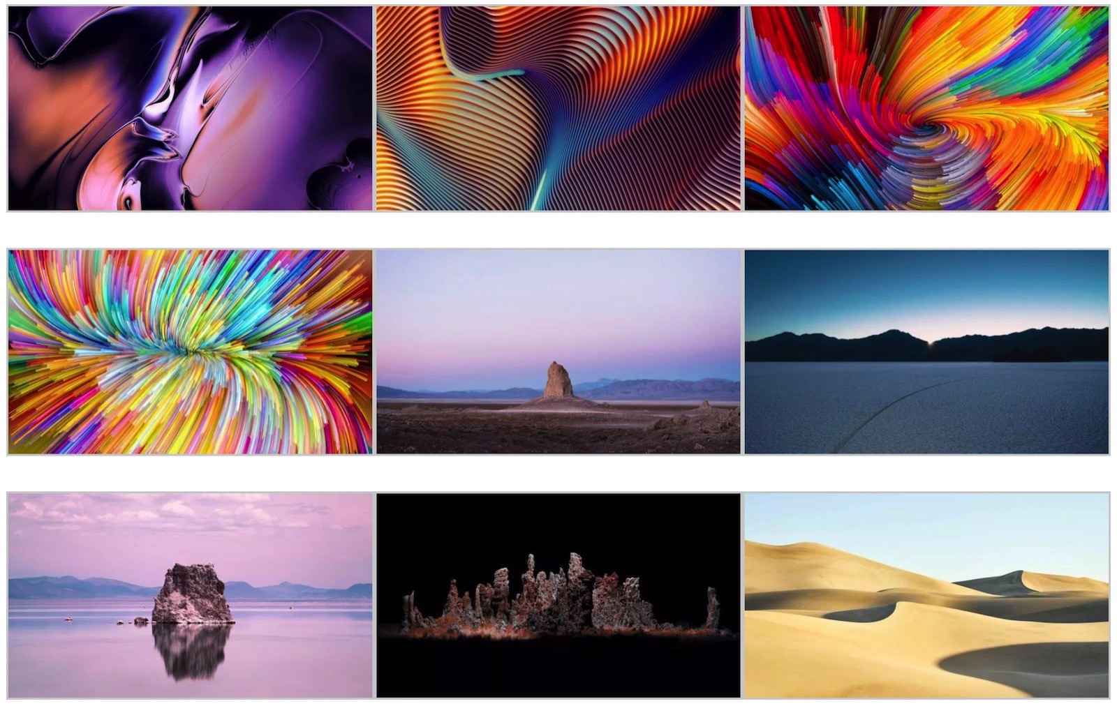 Macos mojave official marketing wallpapers