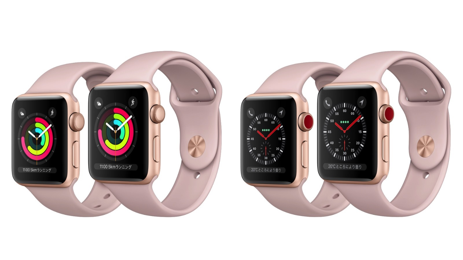 Apple Watch Series 3 gold model