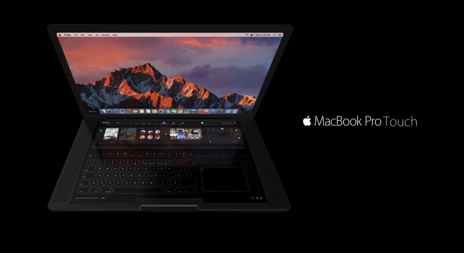 Disastrous MacBook Pro Touch Concept Image