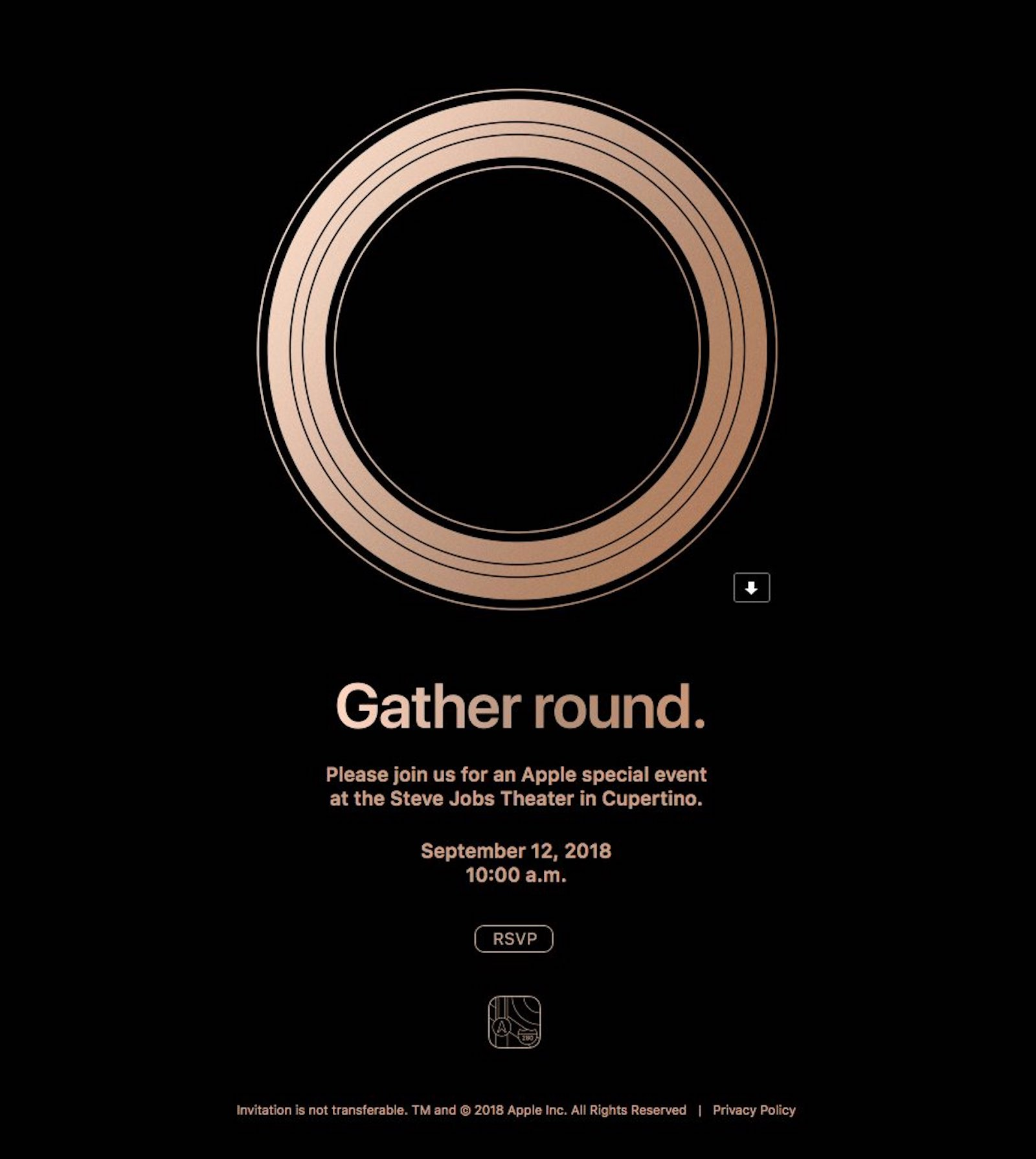 Gather Aroung iphone 2018 event