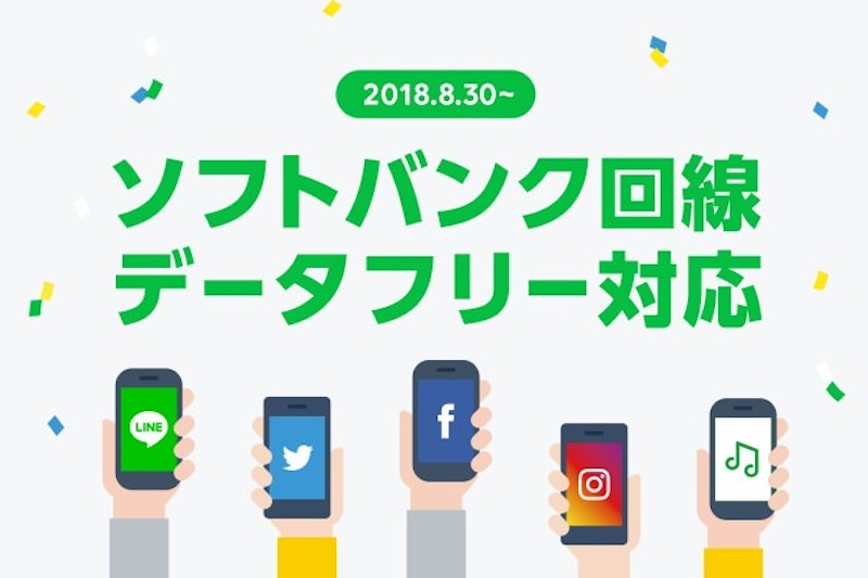 LINE mobile data free