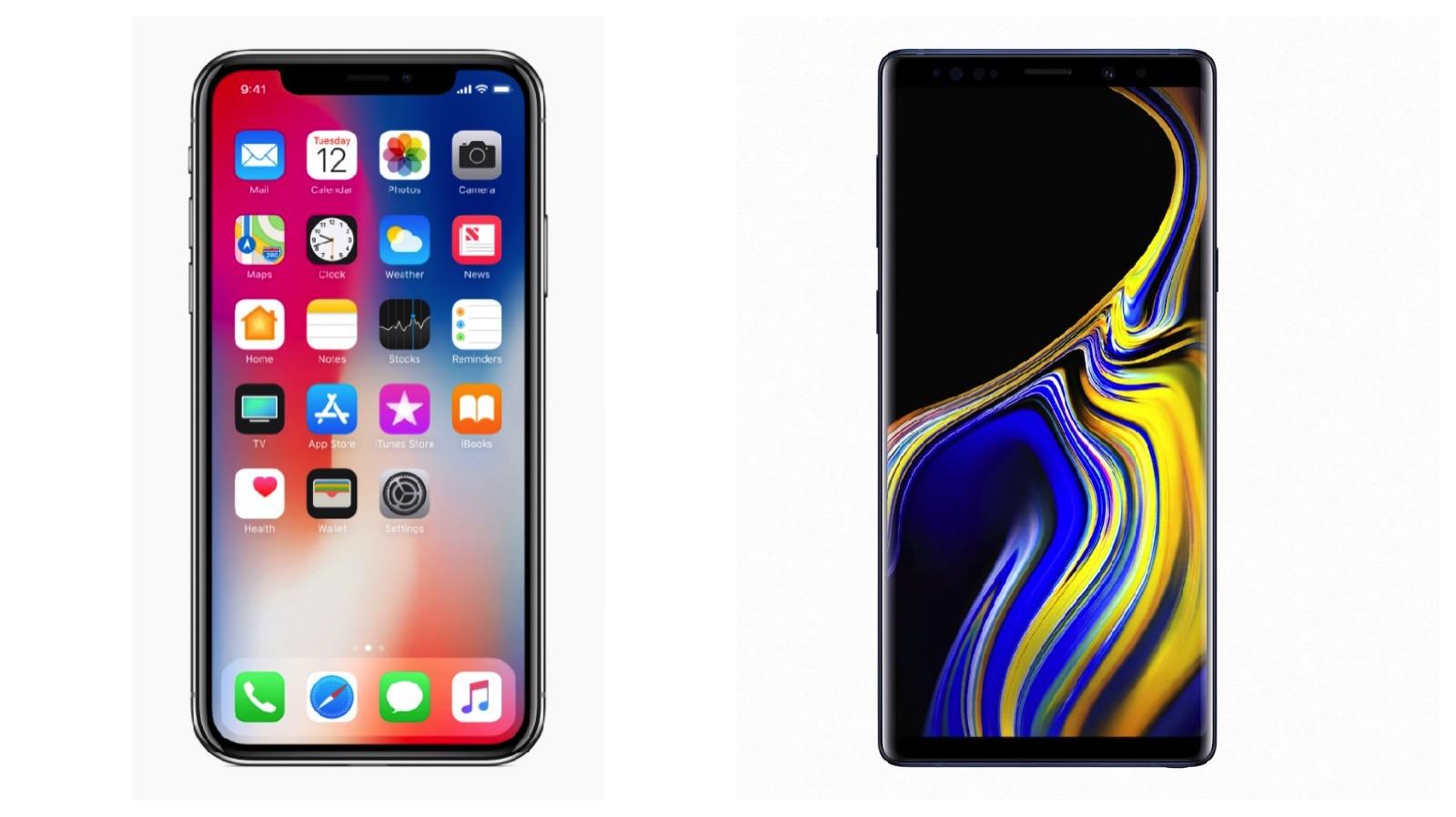 Iphonex vs galaxynote9