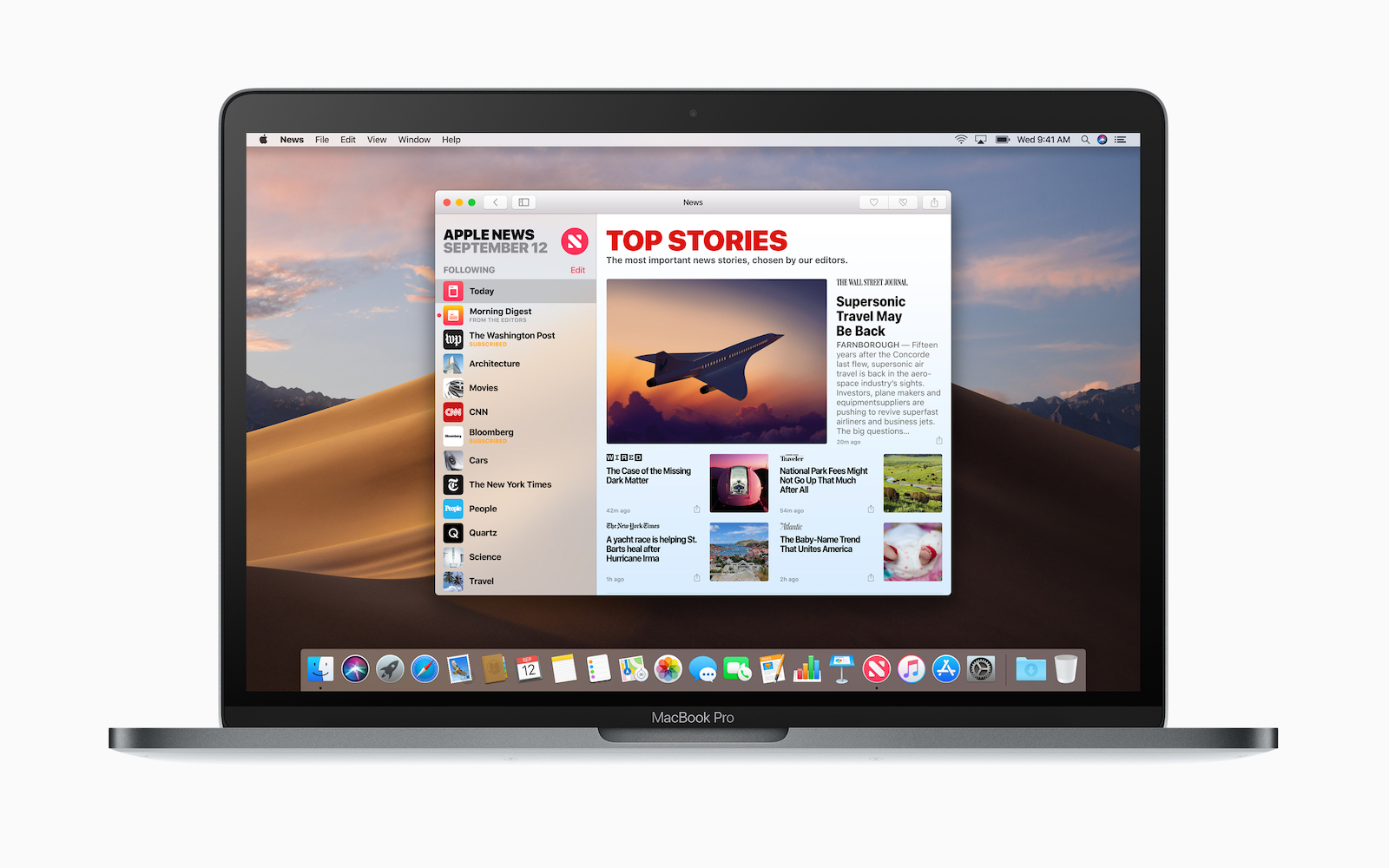 Apple Macbook Pro macOS Mojave News screen 09242018