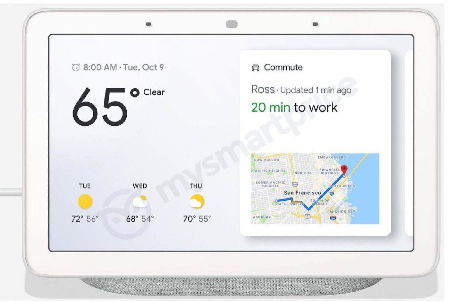 Google Home Hub Leak Front 1