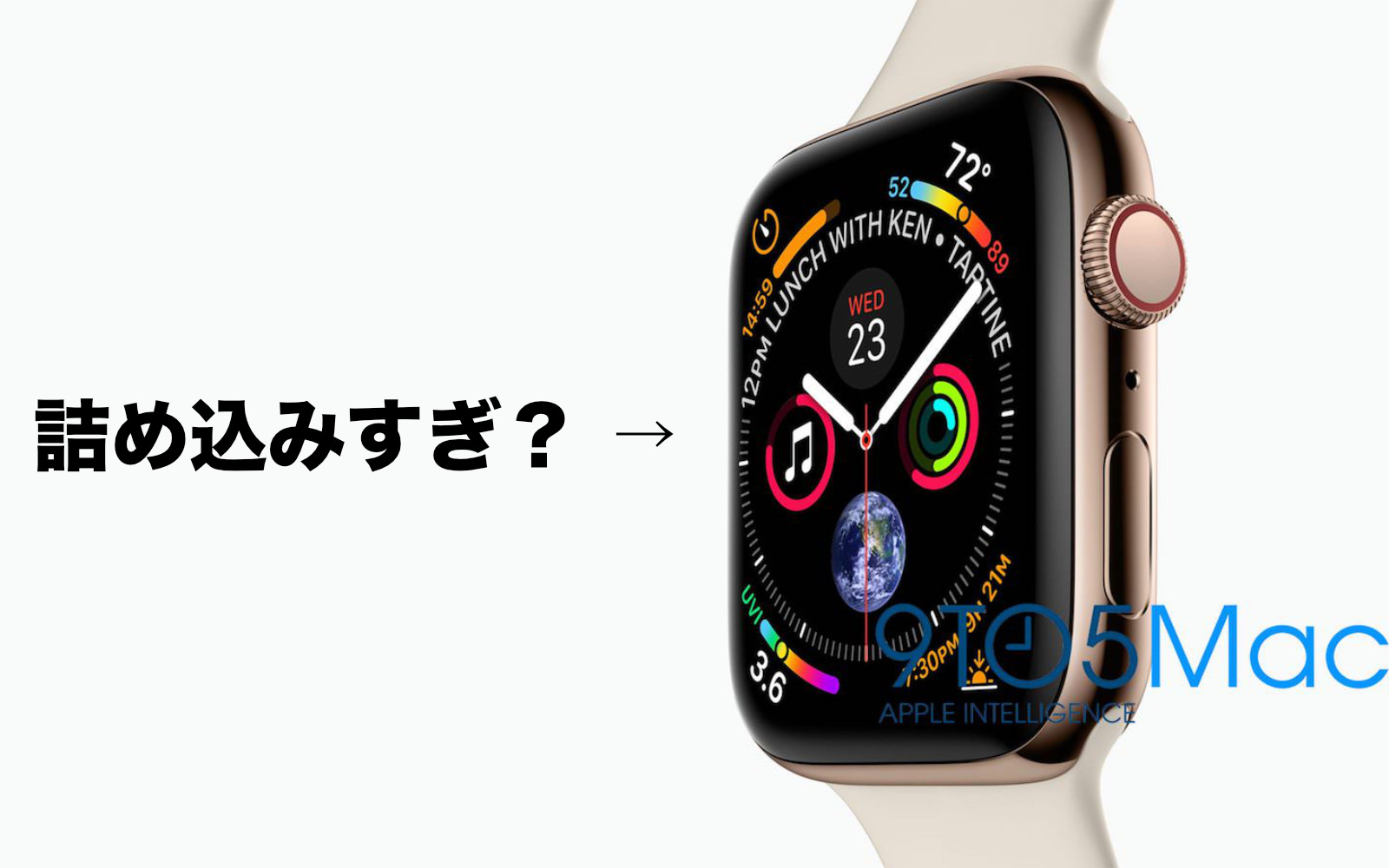 Is AppleWatchSeries4 Face Too Much