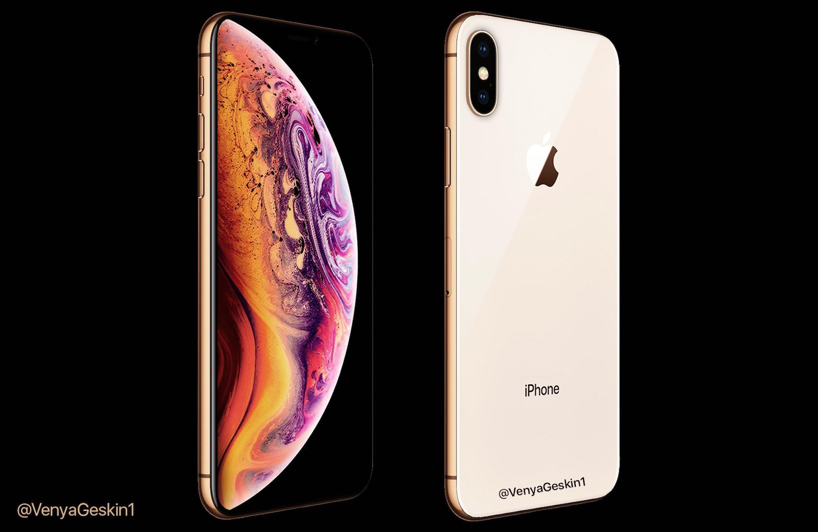 Iphone xs gold model