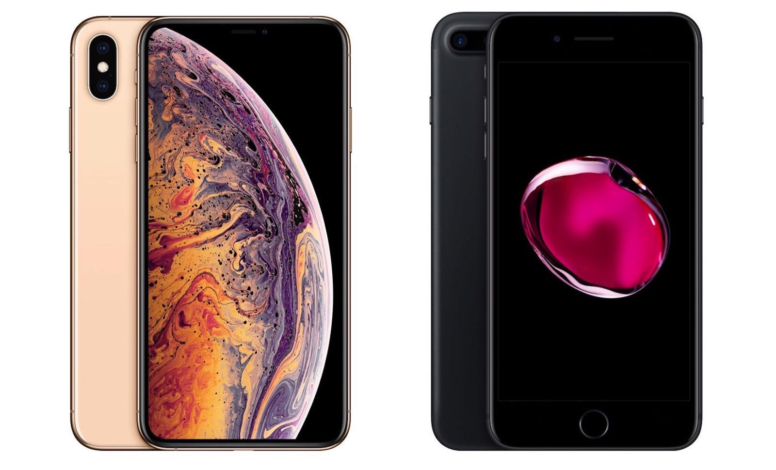 Iphone xs max vs 7 plus