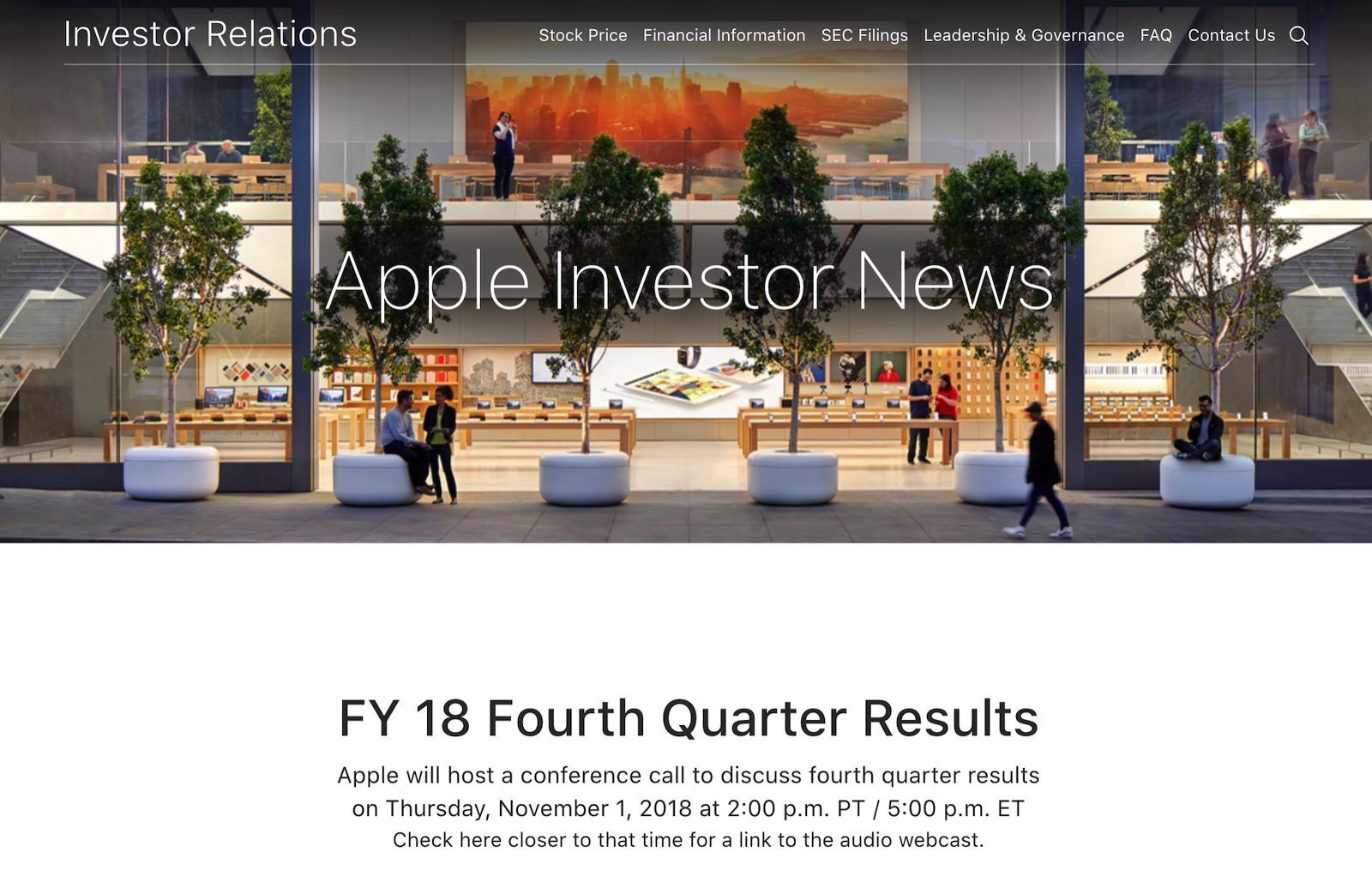 FY 18 Fourth Quarter Results