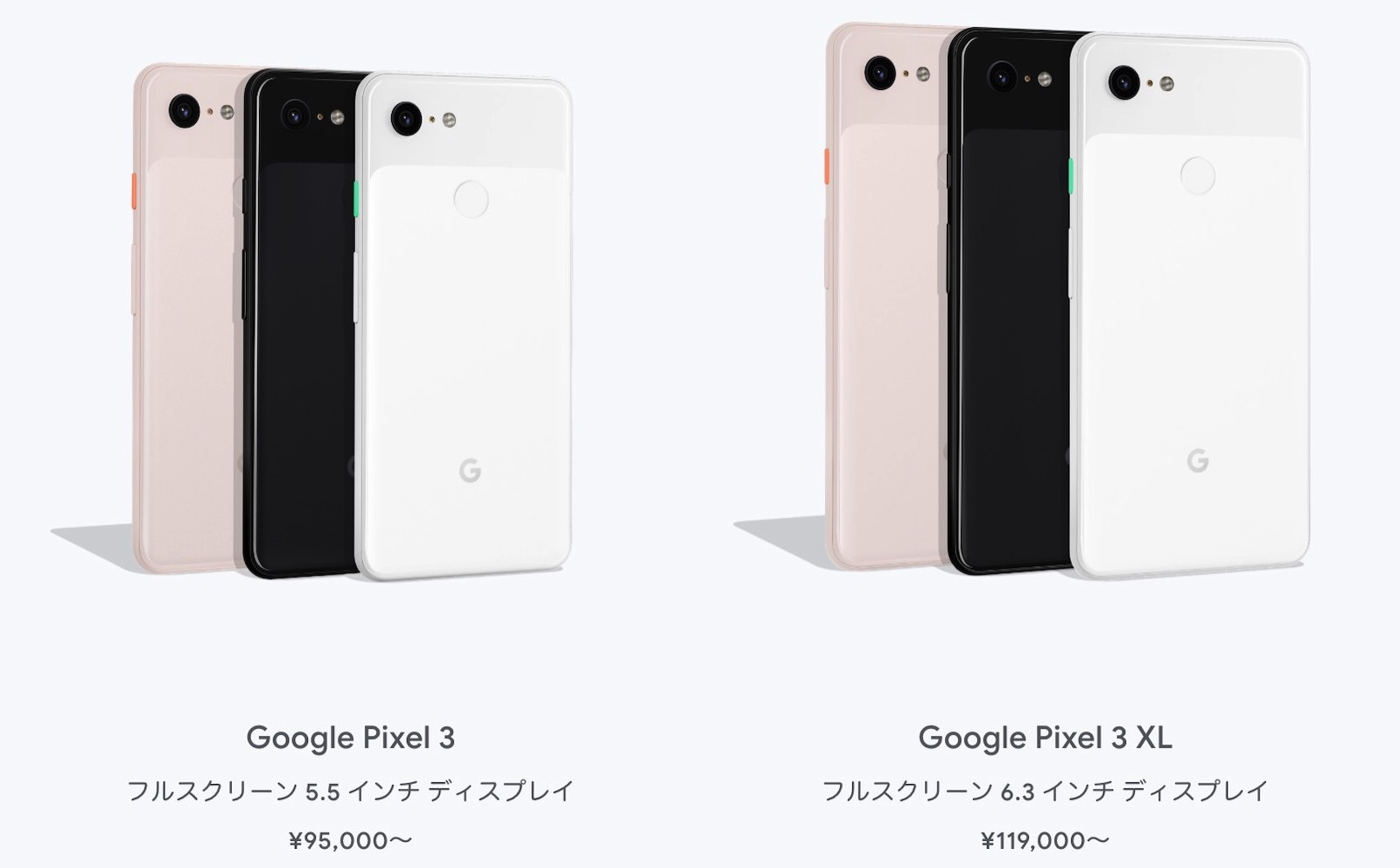 Google Pixel3 ready to order