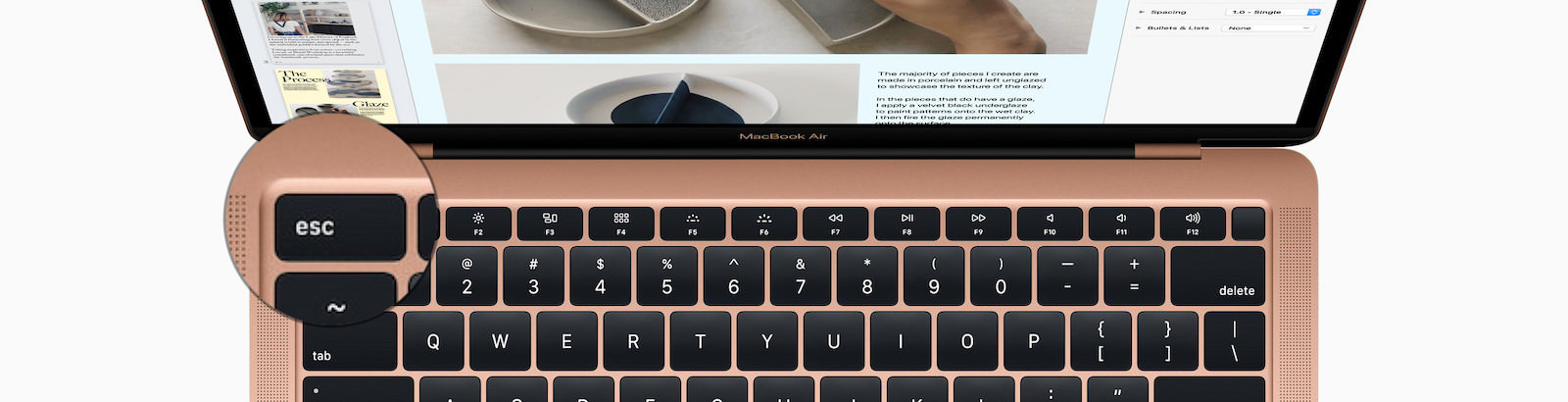MacBook Air Keyboard with esc