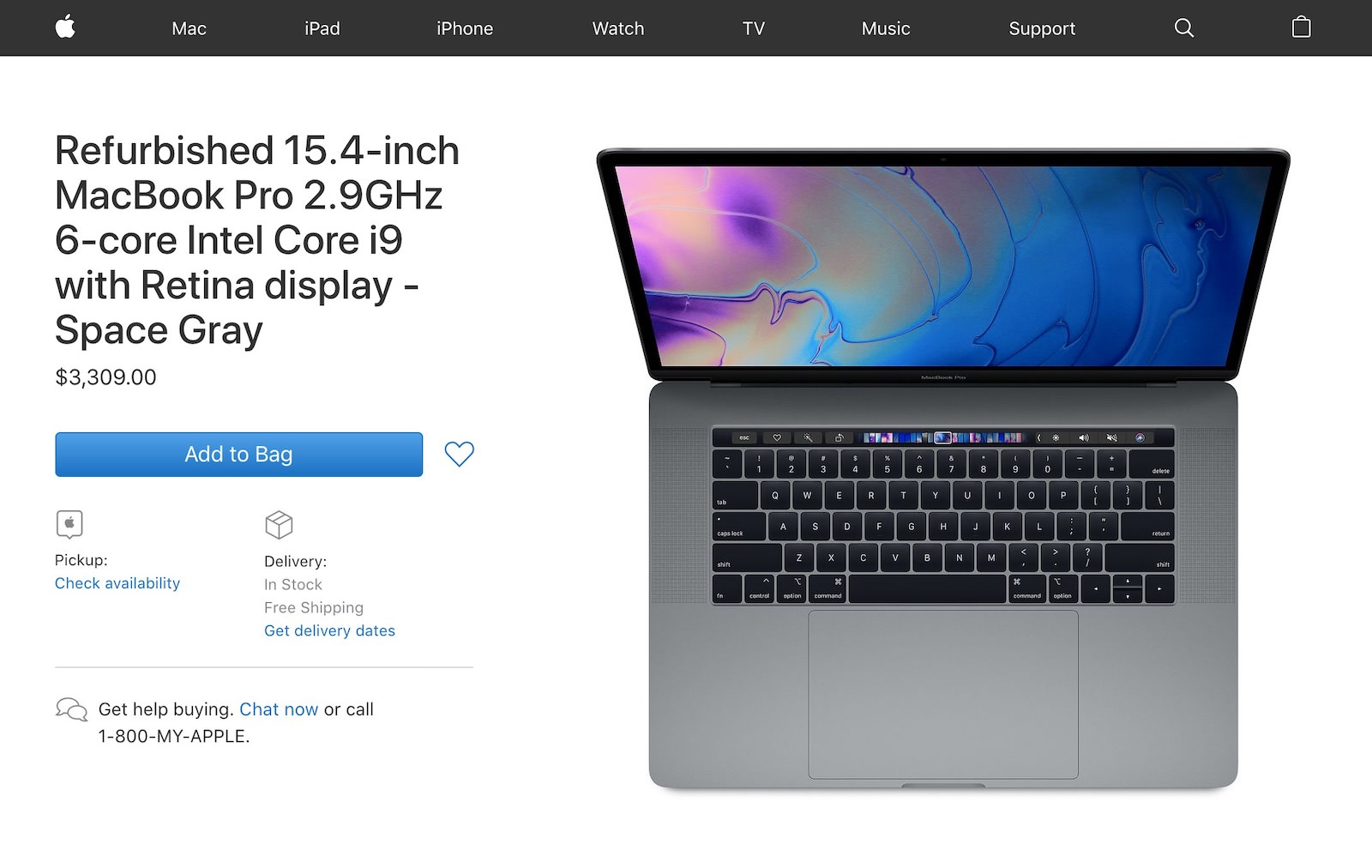 MacBook Pro(2018) refurbished