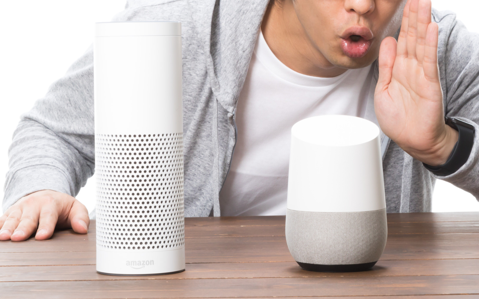Speaking into smart speakers