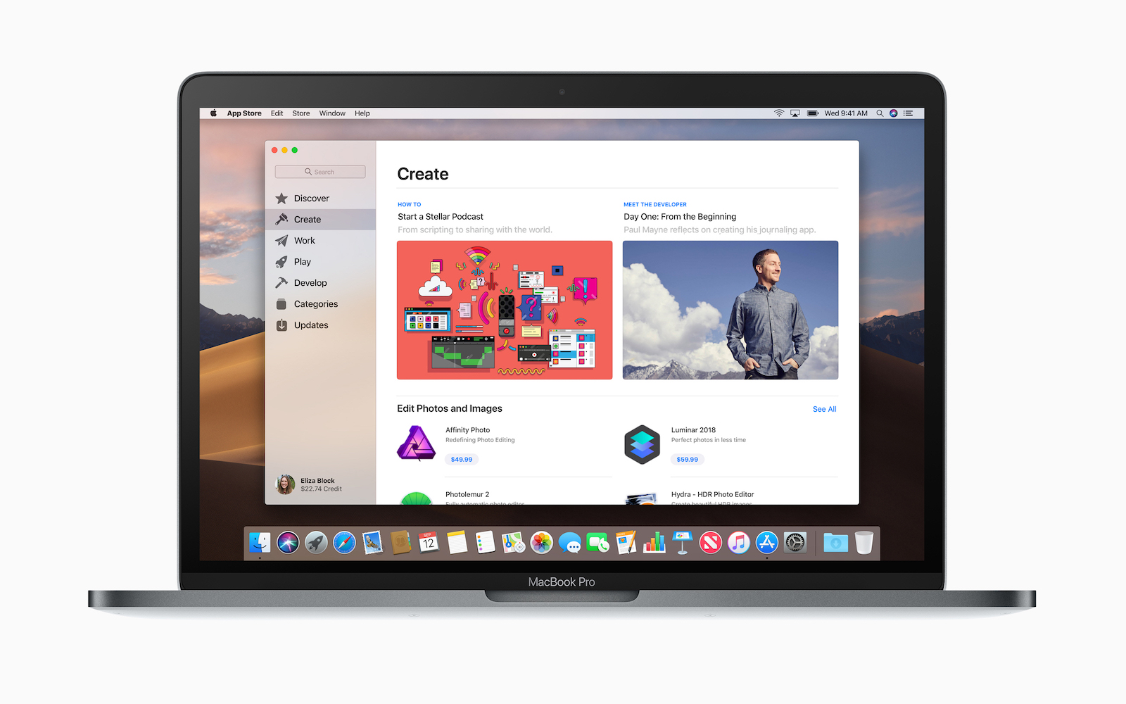 MacOS Mojave App Store iMac Pro screen 09242018