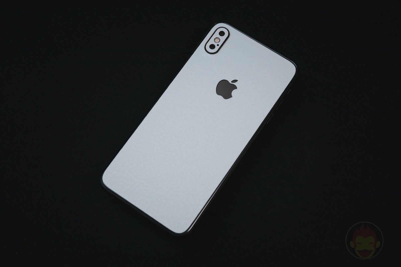 Wraplus white leather skin for iphonexsmax04