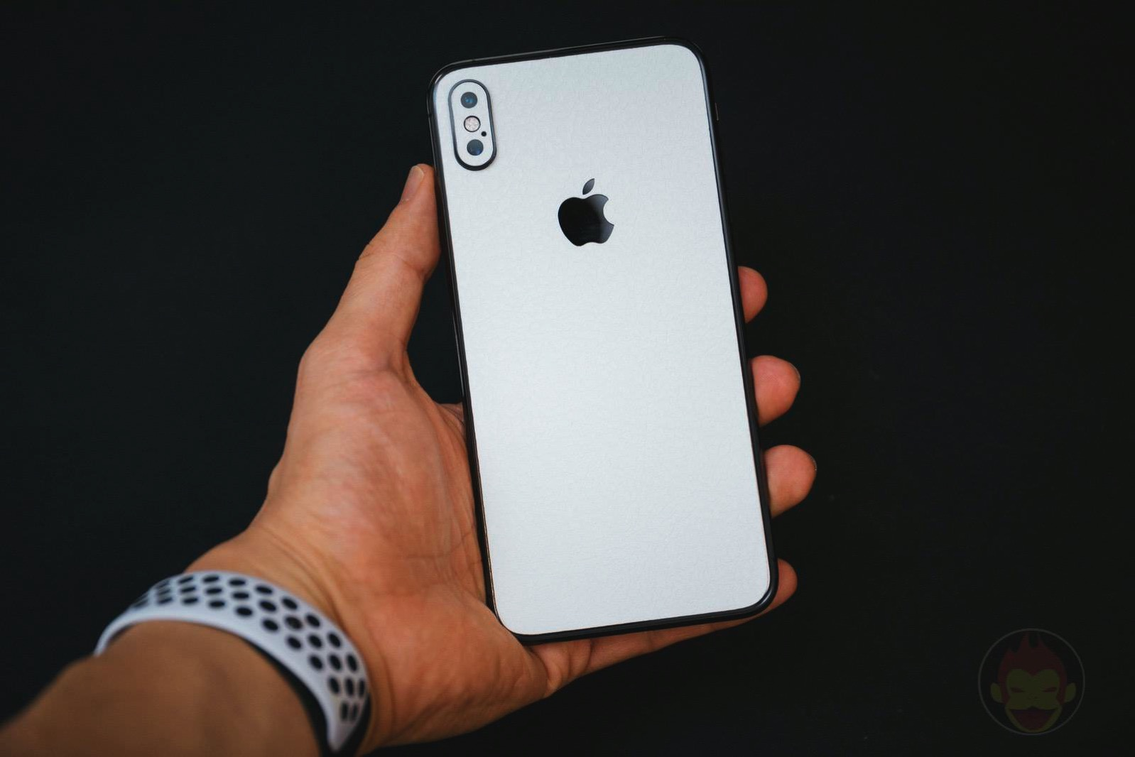 Wraplus white leather skin for iphonexsmax06