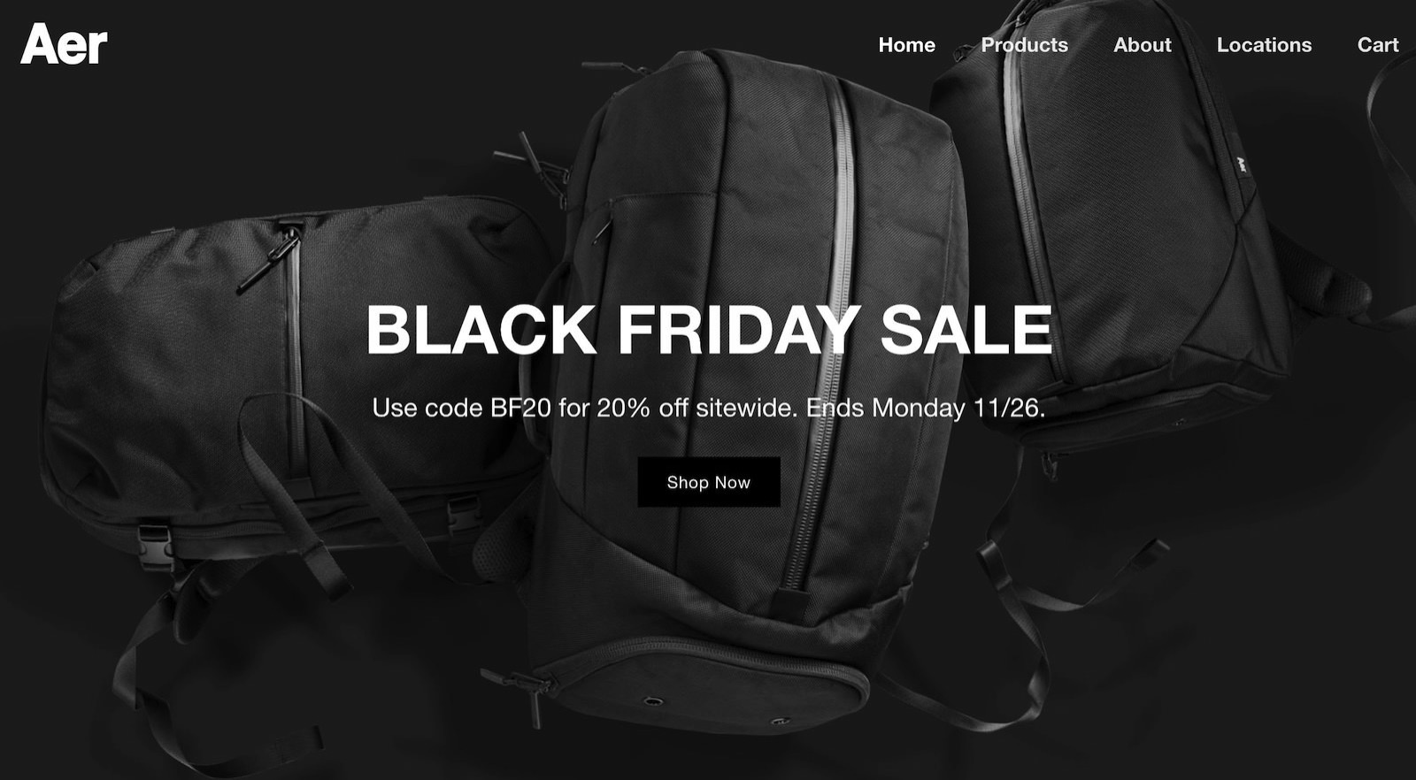Aer Black Friday Sale