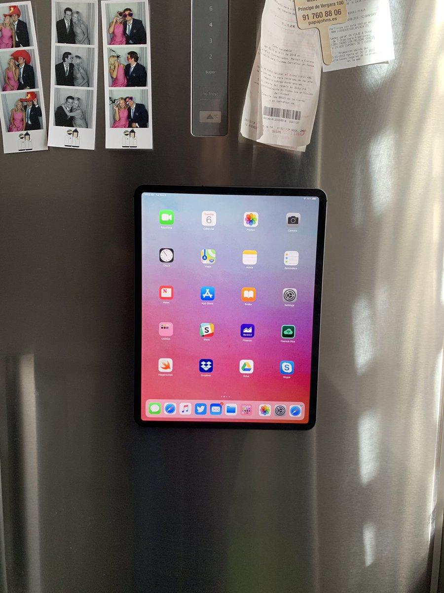 iPad Pro on Fridge