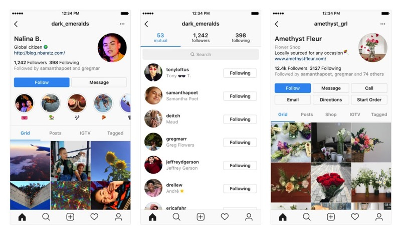 New Instagram Profile design in testing