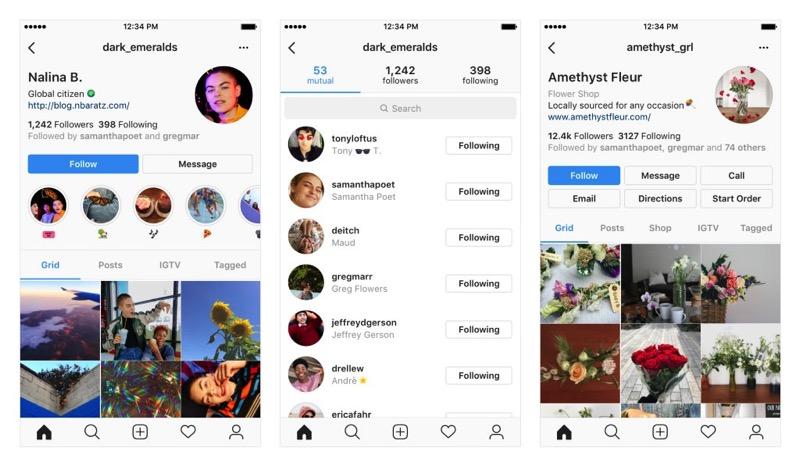 New Instagram Profile design in testing