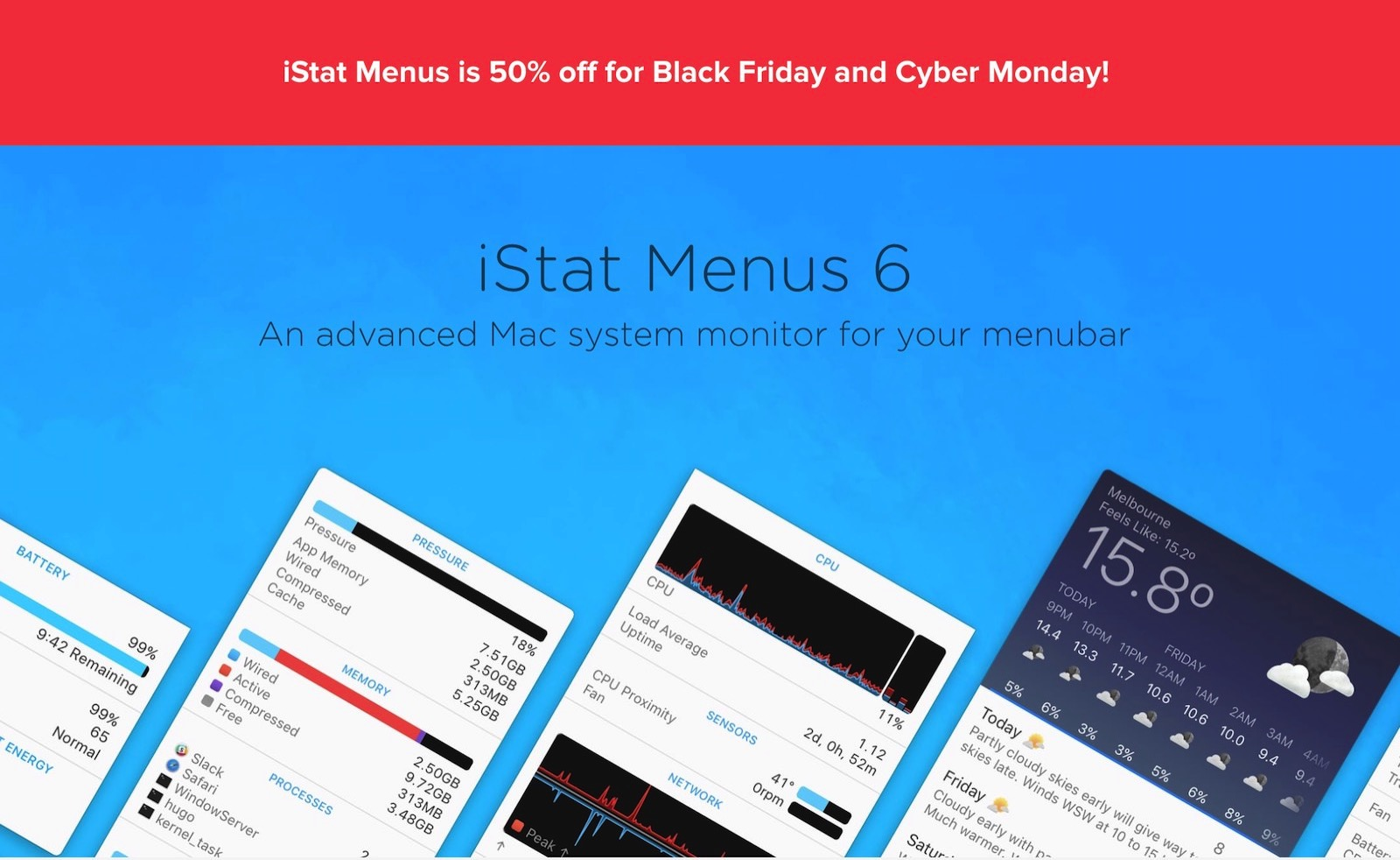 Istat menus blackfriday sale