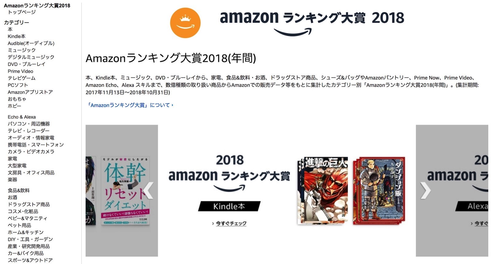 Amazon Yearly Ranking