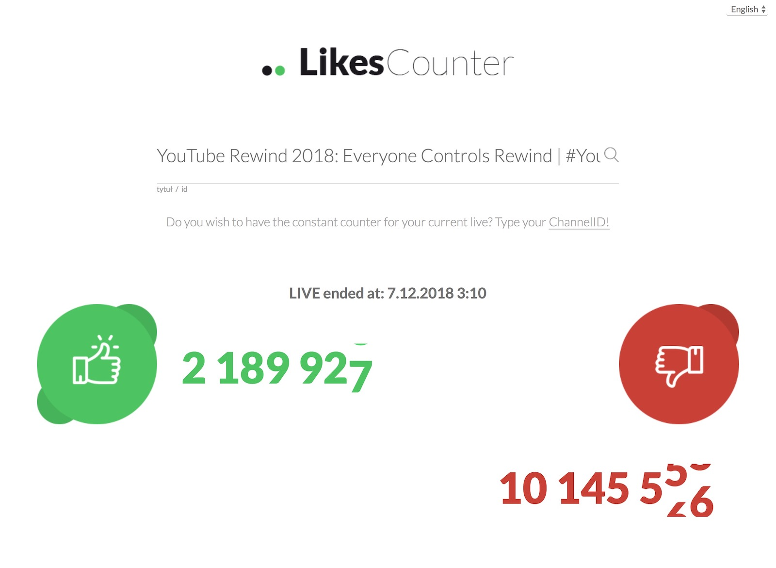 LIkes Counter