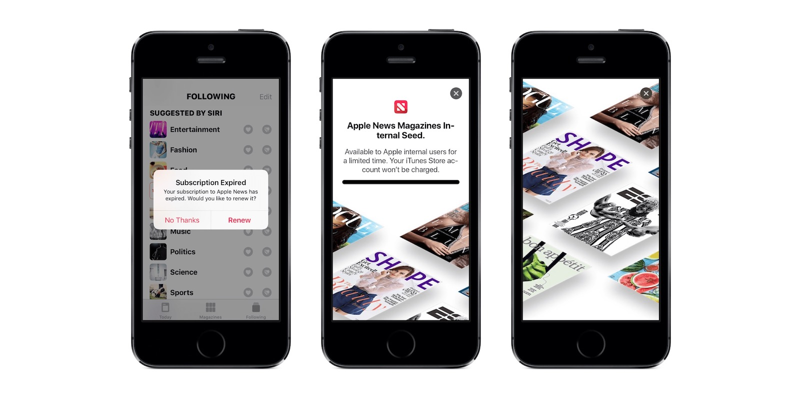Apple News subscription1