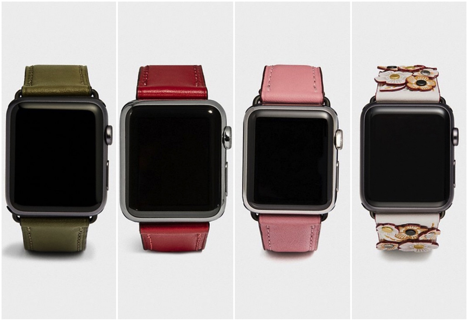 New COACH bands for apple watch