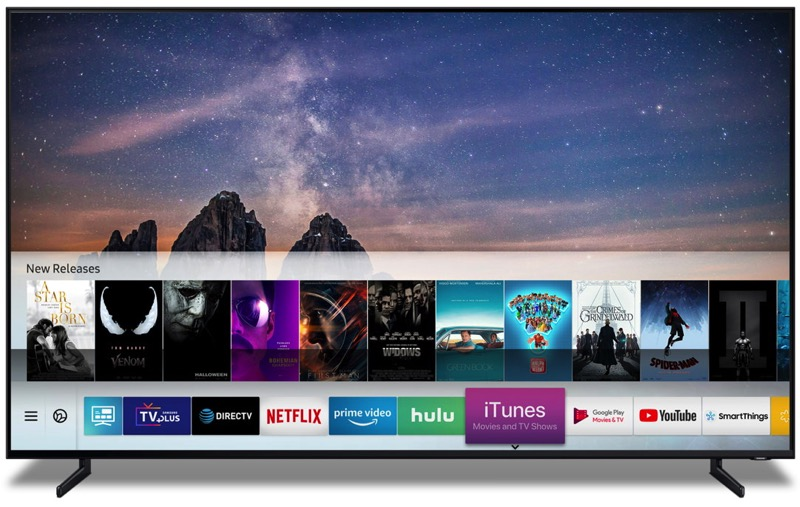 Samsung TV iTunes Movies and TV shows