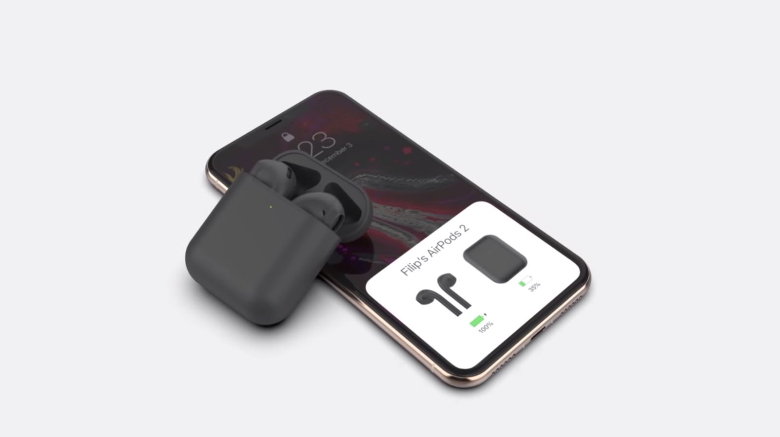 AirPods Black Model Concept Image 2