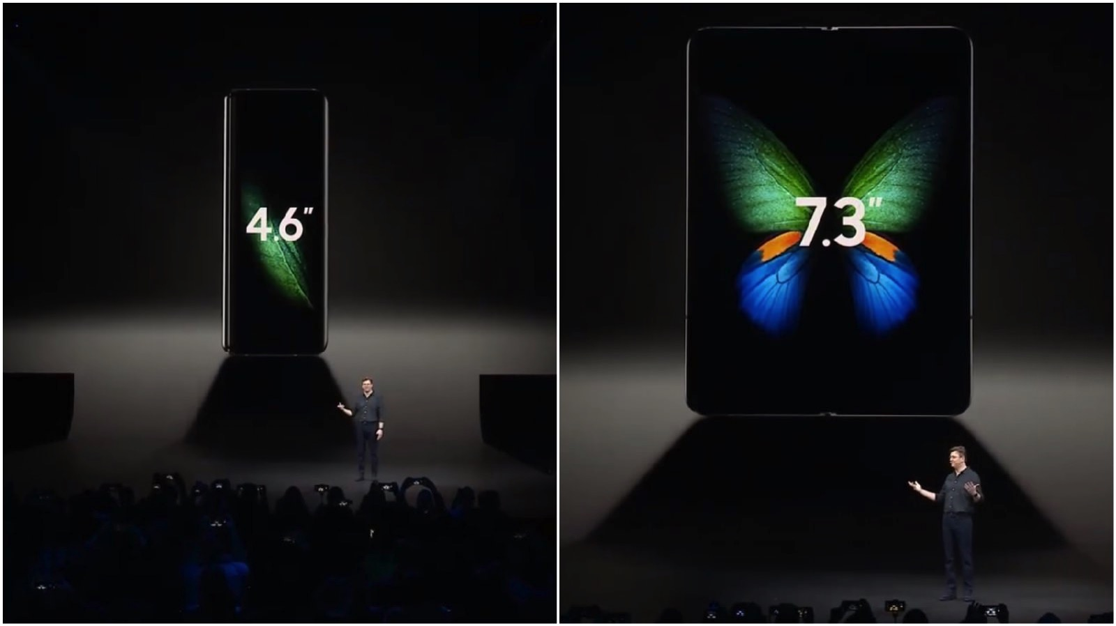 Galaxy Fold Official display size