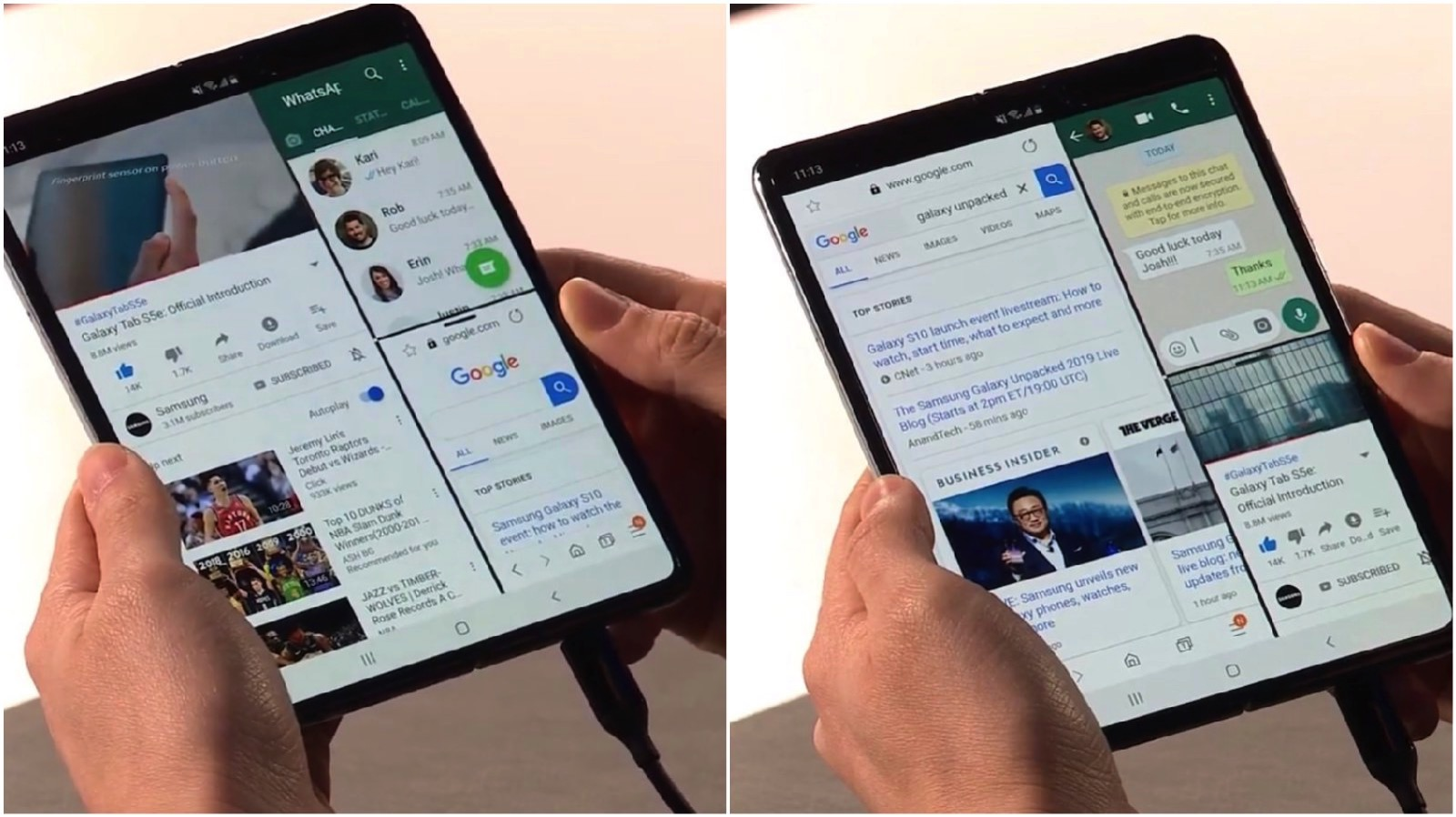 Galaxy Fold Three Apps at Once