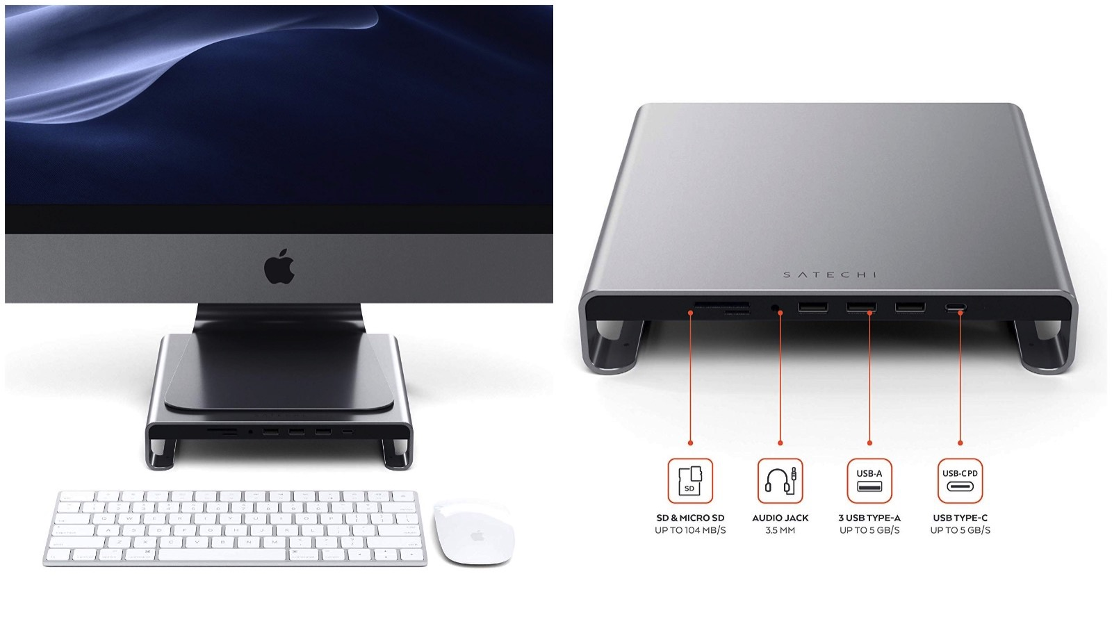 Satechi TypeC Aluminum Stand for iMac
