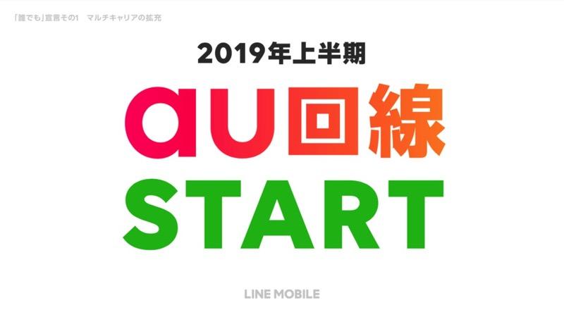 Au line mobile 2019 first half start