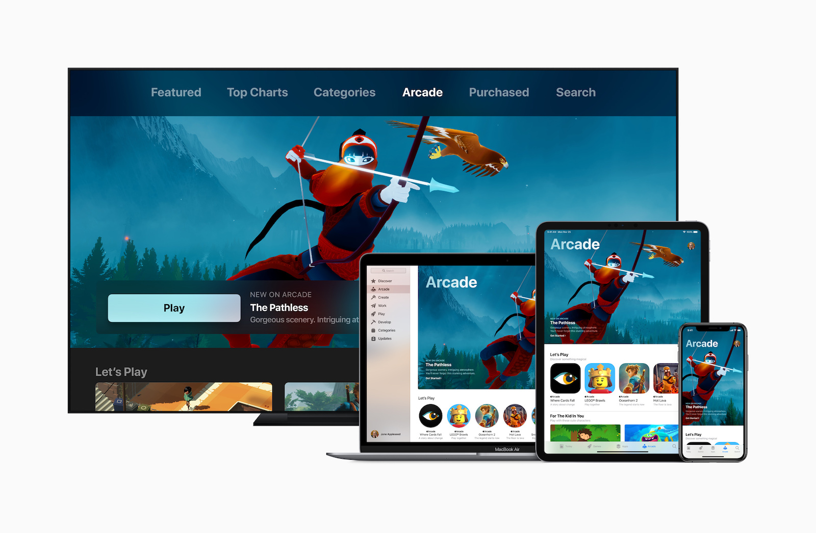Apple introduces apple arcade apple tv ipad pro iphone xs macbook pro 03252019