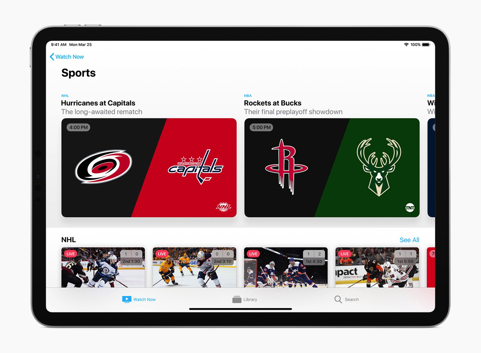 Apple TV app iPad sports 032519
