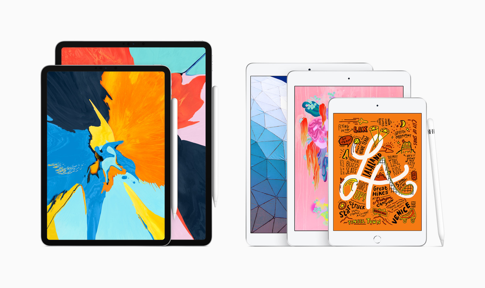 New iPad air and iPad mini with Apple Pencil 03182019