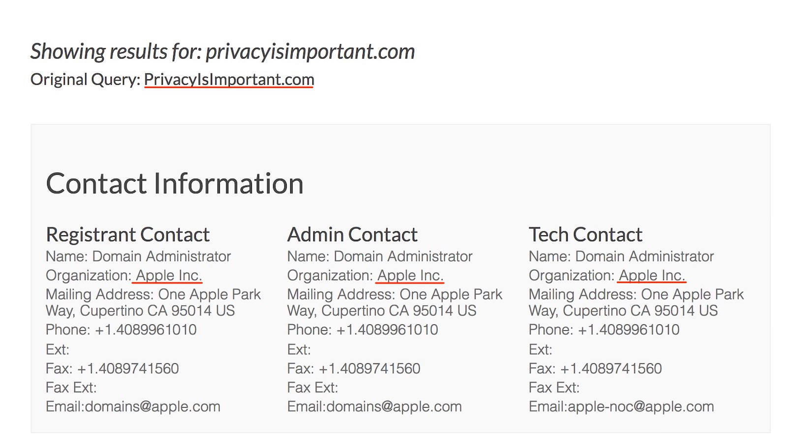PrivacyIsImportant apple whois 2 2