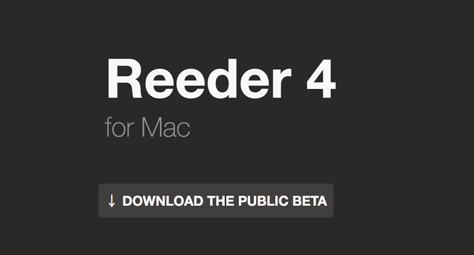 Reeder 4 Public Beta