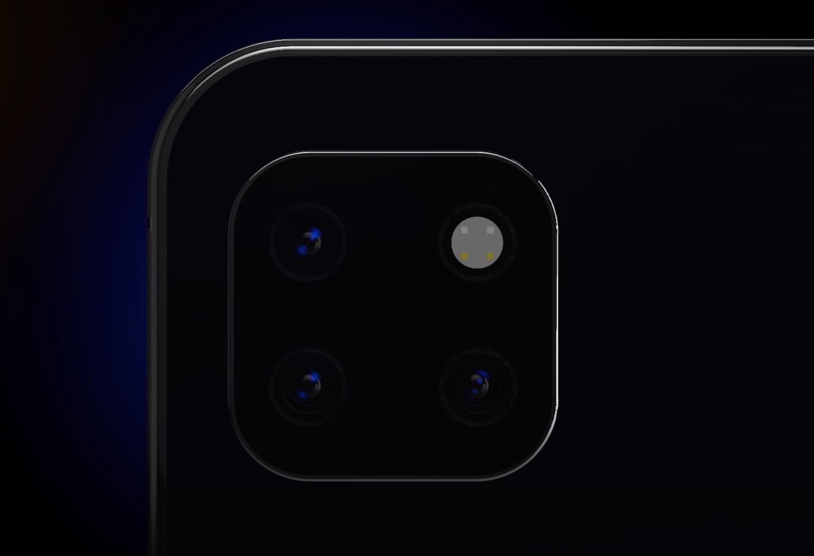 Triple Lens Camera Unit for iPhone Concept